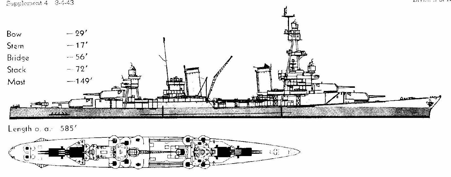 And Notice That The 3 Gun Turrets Are Upper Superimposed Ones This Was Actually First Of Our Washington Naval Treaty Limited